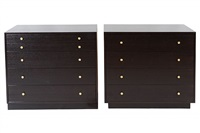 pair of handsome harvey probber dressers by harvey probber