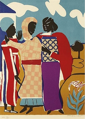 three women (easter sunday) by romare bearden