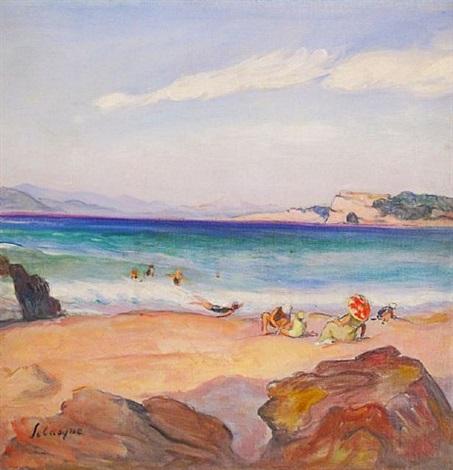 bord de la mer cote d'azur by henri lebasque