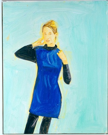 oona in blue by alex katz
