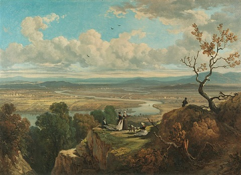 view from mount holyoke, massachusetts (and the oxbow, connecticut river) by victor de grailly