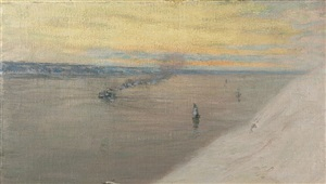 the st. lawrence from the citadel, quebec by birge harrison