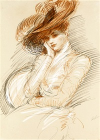 portrait of the artist's wife, alice helleu by paul césar helleu