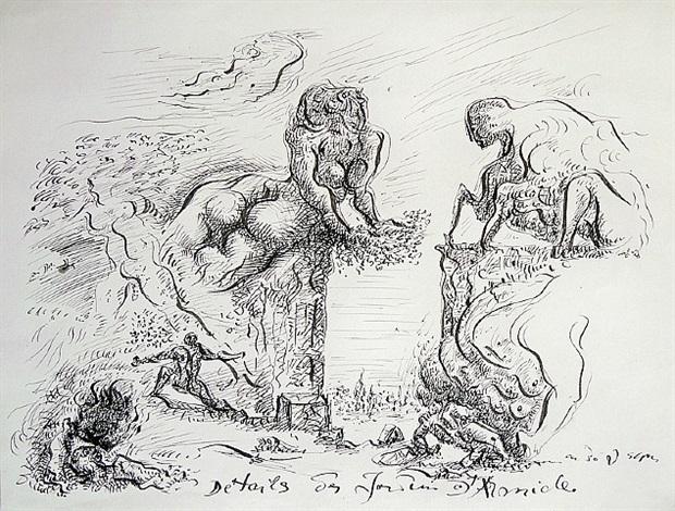détails des jardins d'armide by andré masson