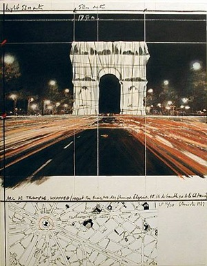 arc de triumphe wrapped by christo and jeanne-claude