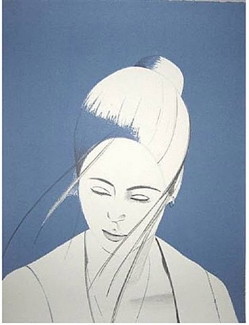 pamela in blue by alex katz