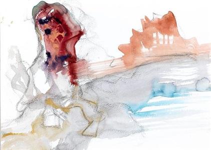 figure scape iii by leiko ikemura