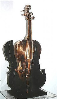 a violin by arman