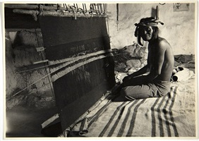 man weaving at loom by sumner matteson
