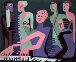 sängerin am piano by ernst ludwig kirchner