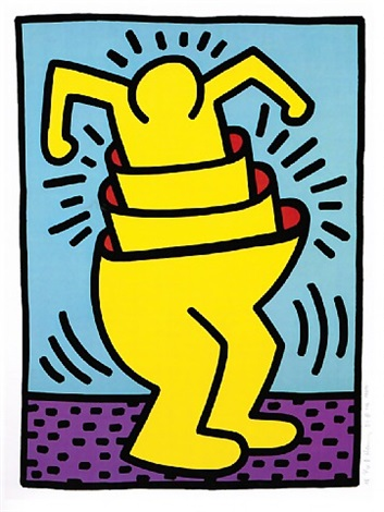 untitled (cup man) by keith haring