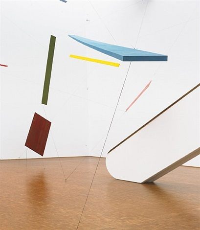 installation view at ludwig museum, köln by joel shapiro