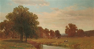 trees and meadows of berkshire by george henry smillie