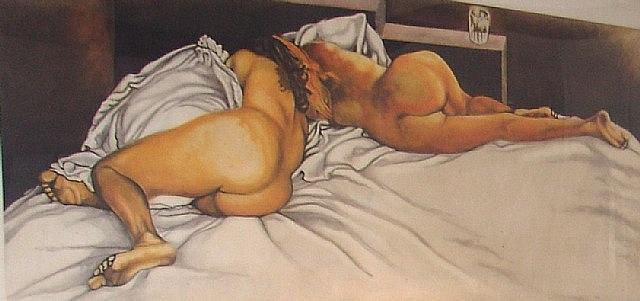 nudo di donna by renato guttuso