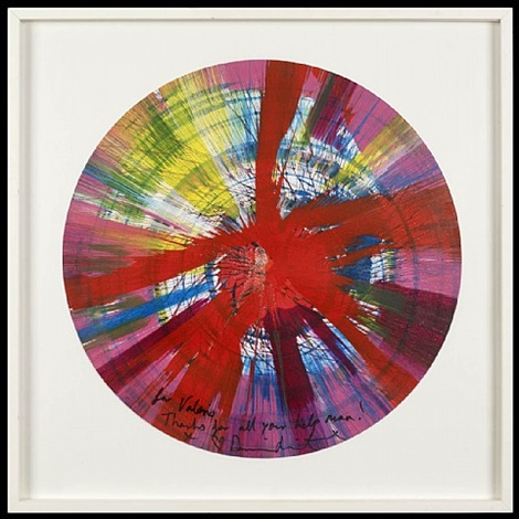 untitled (spin) by damien hirst