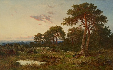 evening surrey wolds by benjamin williams leader