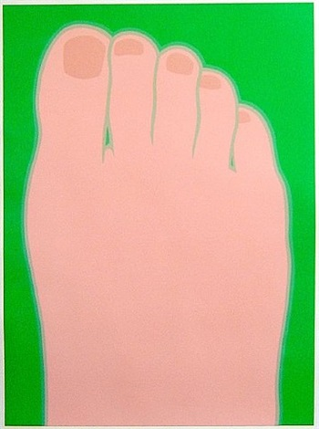 foot (design for the olympics) by tom wesselmann