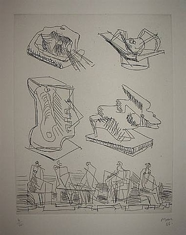 joleas for sculpture - cramer n ' 54 by henry moore