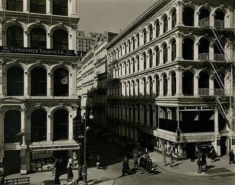 broadway and thomas st. by berenice abbott