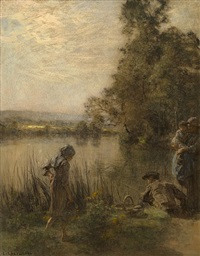 pêcheur et sa familie (fisherman and his family) by léon augustin lhermitte