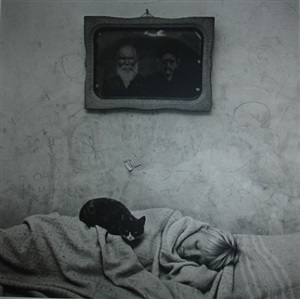 portrait of sleeping girl by roger ballen