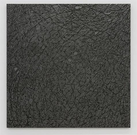 pelle di grafite - riflesso di sodalite by giuseppe penone