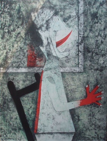 uomo con la lingua fuori by rufino tamayo
