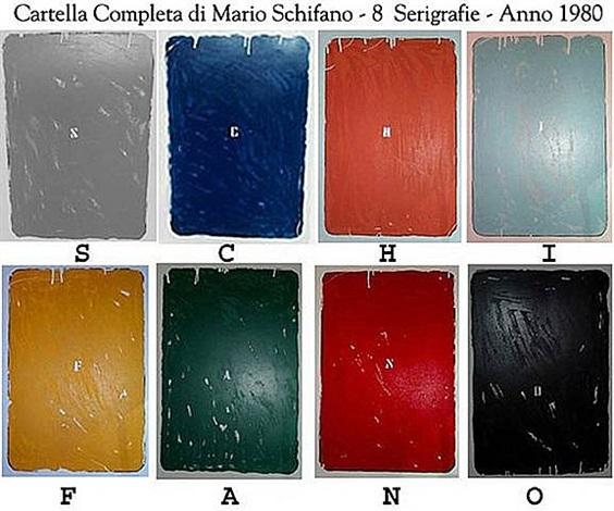 8 x art works (s c h i f a n o) by mario schifano