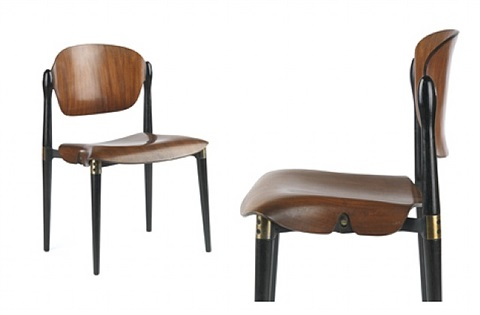 "pair of ""s83"" chairs by tecno by eugenio gerli"