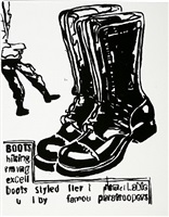 paratrooper boots (positive) by andy warhol