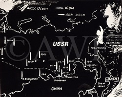 map of eastern u.s.s.r. missile bases (negative) by andy warhol