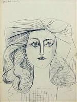 portrait of françoise gilot by pablo picasso