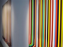 detailed installation view - ian davenport: between the lines 1 by ian davenport