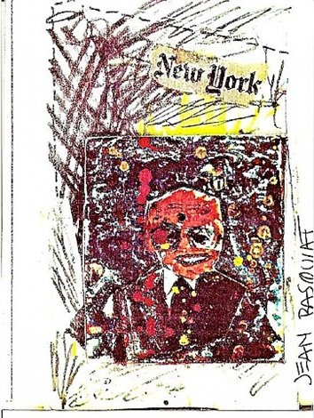 new york (anti-product postcard) by jean-michel basquiat