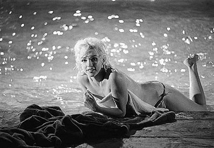 poolside, marilyn monroe, something's got to give, may 23, 1962 by lawrence schiller