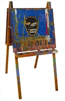 untitled (easel) by jean-michel basquiat