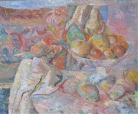 wc009 - still life with fruit by caziel