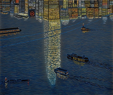 hudson reflections by yvonne jacquette