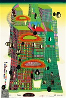 good morning city by friedensreich hundertwasser