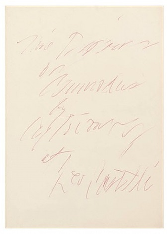 nine discourses on commodus by cy twombly at leo castelli by cy twombly