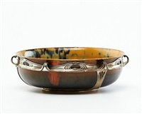 mounted bowl by auguste delaherche