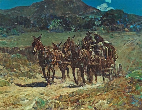 lot 197: the sutter creek stage by frank tenney johnson