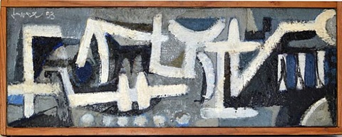 abstract composition by john harrison levee