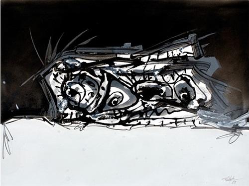 portrait imaginaire de goya by antonio saura