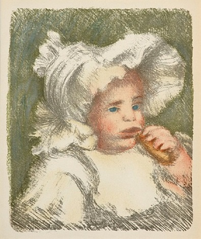 l'enfant au biscuit by pierre-auguste renoir
