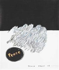 untitled (peace) by david shrigley and yoshitomo nara