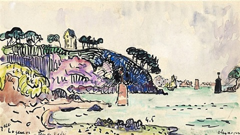 master drawings in london by paul signac