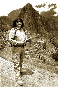 he gong re-takes che guevara's motorcycle journey -- read neruda's poem in machu picchu by he gong