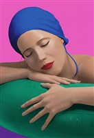 serena with blue cap by carole a. feuerman