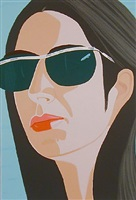 ada with sun glasses by alex katz